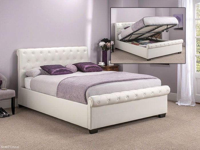 Magnificent Tranquil Beds 4Ft6 Double Size Ottoman Bed Ivory White Pdpeps Interior Chair Design Pdpepsorg