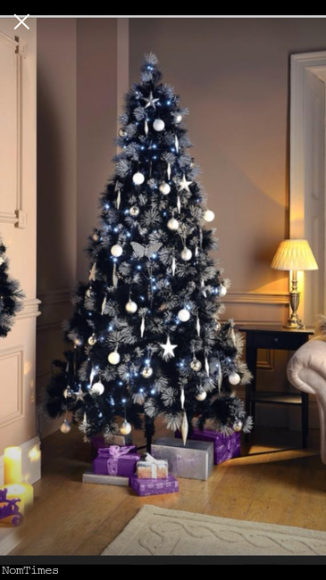 7ft black christmas tree ashford surrey nomtimes classifieds